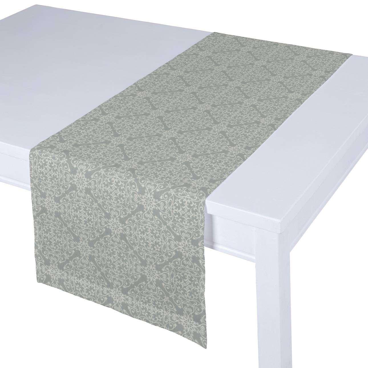 Rechteckiger Tischläufer 40 x 130 cm von der Kollektion Flowers/Luna, Stoff: 140-38