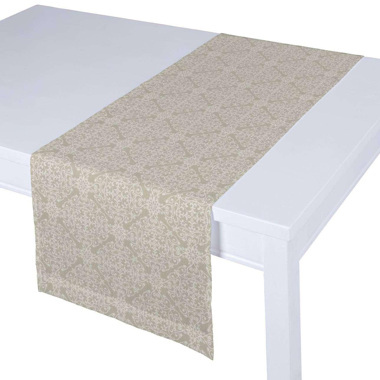 Rechteckiger Tischläufer 40 x 130 cm von der Kollektion Flowers/Luna, Stoff: 140-39