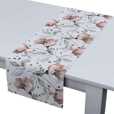 Rechthoekige tafelloper 704-50 rwit-grijs Collectie Velvet