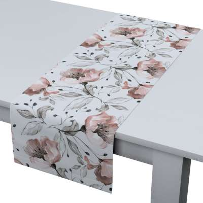 Table runner 704-50 pink flowers on a cream background Collection Velvet