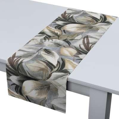 Štóla na stôl 143-60 šedo - béžové listy Kolekcia Abigail