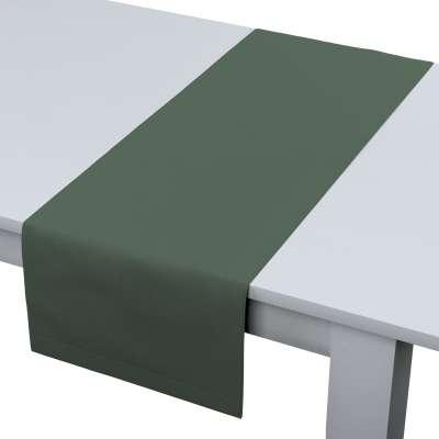 Rechteckiger Tischläufer 159-08 grün Kollektion Leinen