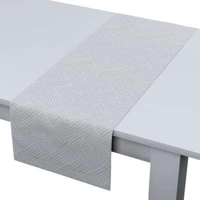 Rechteckiger Tischläufer 143-43 grau-weiß Kollektion Sunny