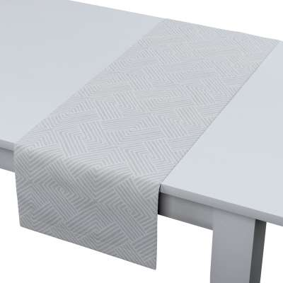 Rechthoekige tafelloper 143-43 grijs-wit Collectie Sunny