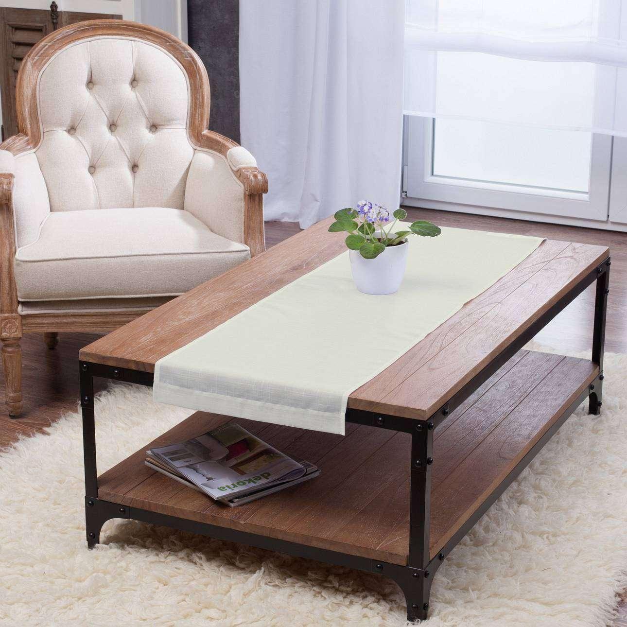 Rechteckiger Tischläufer 40 x 130 cm von der Kollektion Romantica, Stoff: 128-88