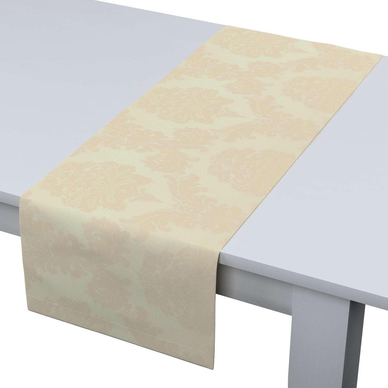 Rechteckiger Tischläufer 40 x 130 cm von der Kollektion Damasco, Stoff: 613-01