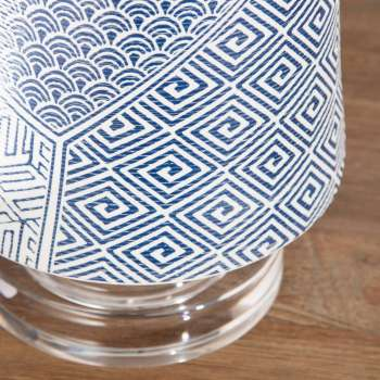 Lampa stołowa Blue Sapporo wys. 63cm 45x45x63cm
