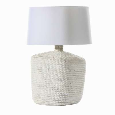 Tischlampe Coastal White 66cm