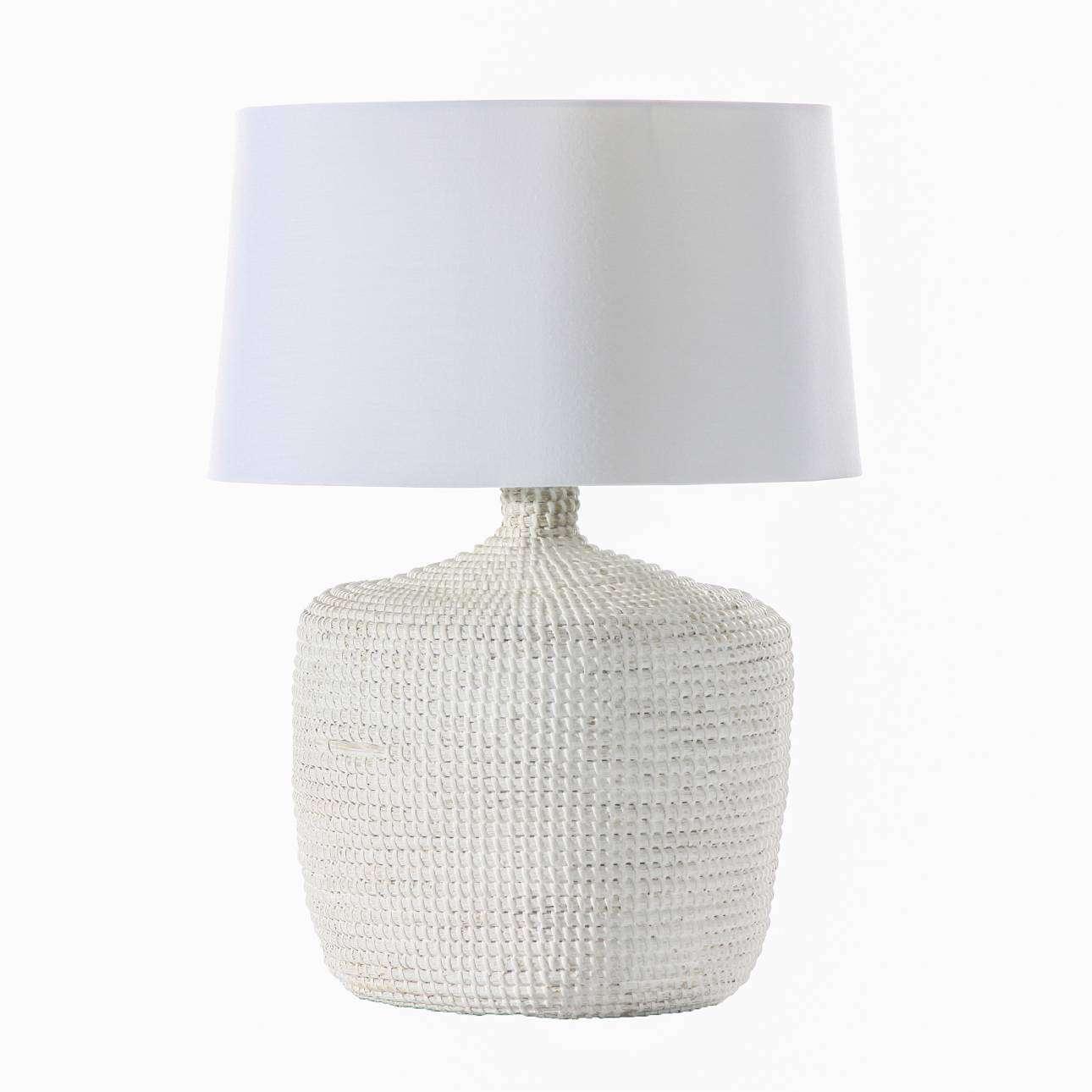 Lampa stołowa Coastal White wys. 62cm 45x45x62cm