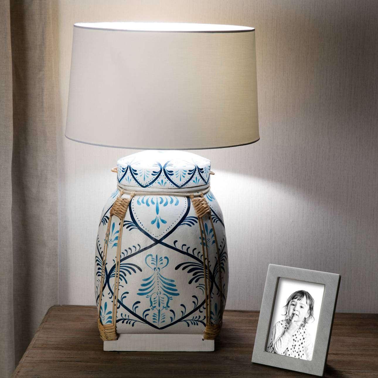 Lampa stołowa Blue Beetle Basket wys. 73cm 45x45x73cm