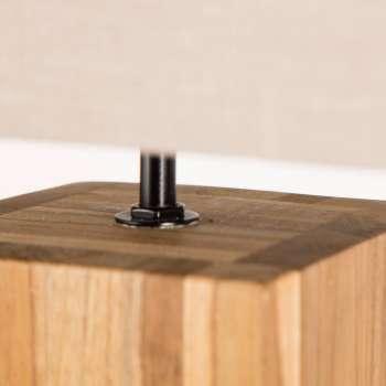 Lampa stołowa Cube Line Teak wys. 68cm 22x22x68cm