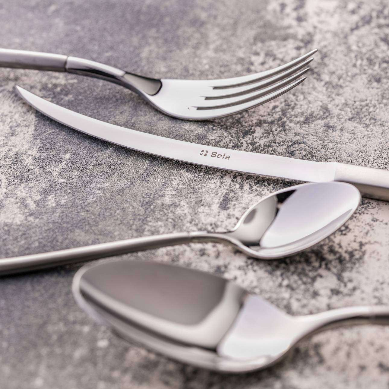 Sztućce Awangarda Silver komplet dla 6osób 24 części 47,5x28x4,5cm