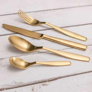 Besteckset Gaya Gold Satin PVD für 6 Personen 43,5x32,5x5cm