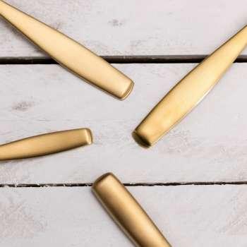 Sztućce Gaya Gold Satin PVD komplet dla 6 osób 24części 43,5x32,5x5cm