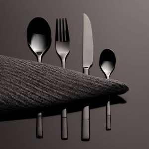 Sztućce Luxus Black komplet dla 6 osób 24 części 44x33x5,5cm