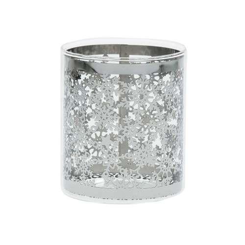 Teelichthalter Christmas Time Silver 8cm