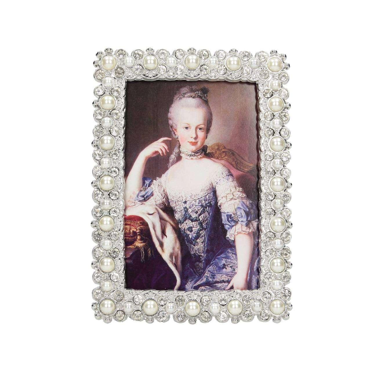 Fotorahmen Zonia 13,5x19cm, 15,5 × 5,5 × 19 cm | Dekoration > Bilder und Rahmen > Rahmen | Silber | Metall | Dekoria