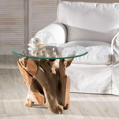 Bijzettafel Timur 70x70x55cm Koloniale meubels - Dekoria.nl