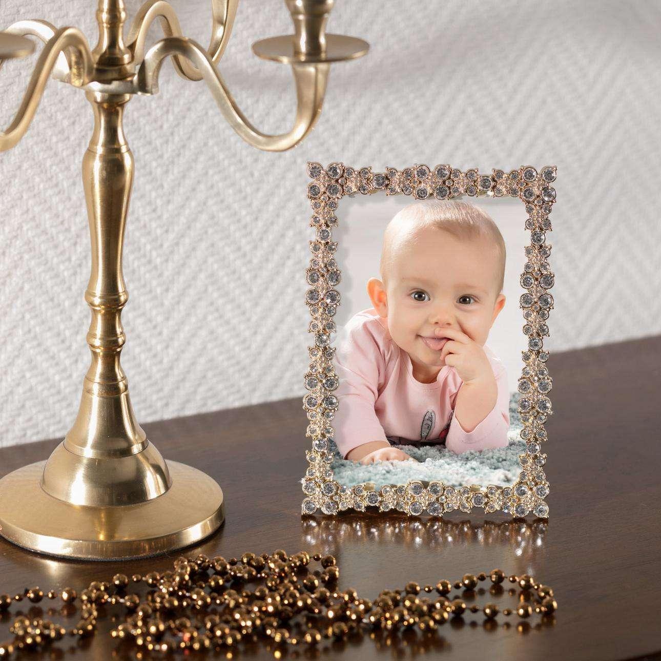 Ramka Angela 12x17cm gold 12x1,5x17cm