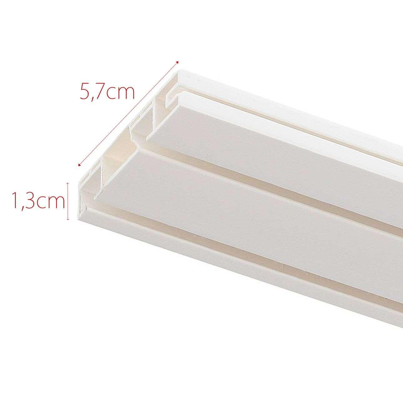 Szyna przysufitowa podwójna prosta 150cm 150cm