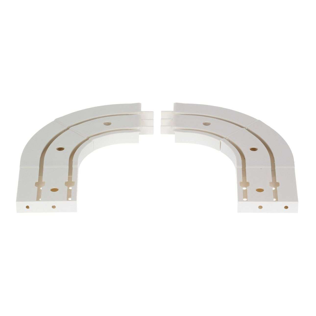 Gordijnbochten dubbele rails set van 2 stuks