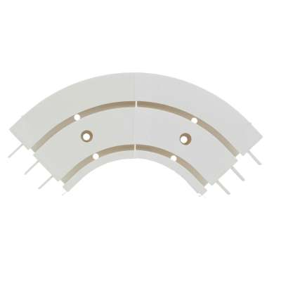 Duo Curtain Track Arch (Mid-section Arch) Ceiling Curtain Tracks - Dekoria.co.uk