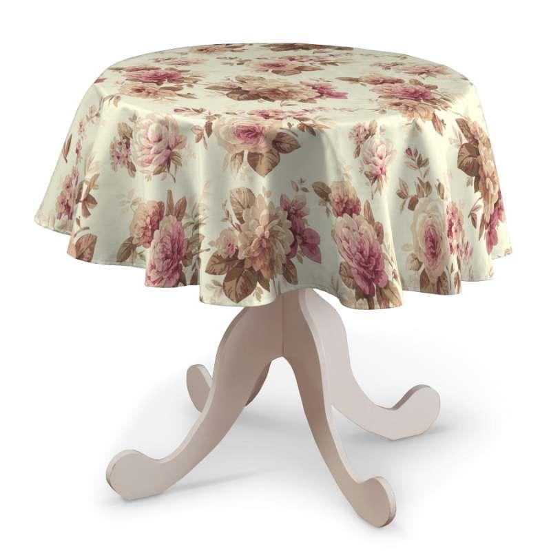 Rund bordsduk i kollektionen Londres, Tyg: 141-06