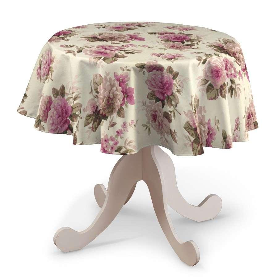 Runde Tischdecke von der Kollektion Mirella, Stoff: 141-07