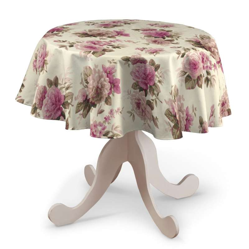 Round tablecloth in collection Londres, fabric: 141-07