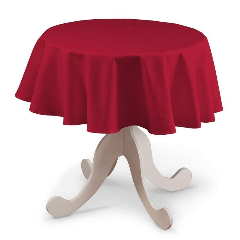 Runde Tischdecke von der Kollektion Cotton Panama, Stoff: 702-04