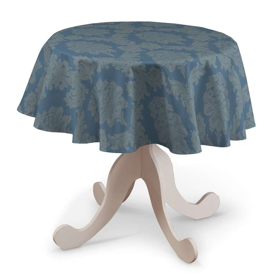 Runde Tischdecke Ø 135 cm von der Kollektion Damasco, Stoff: 613-67