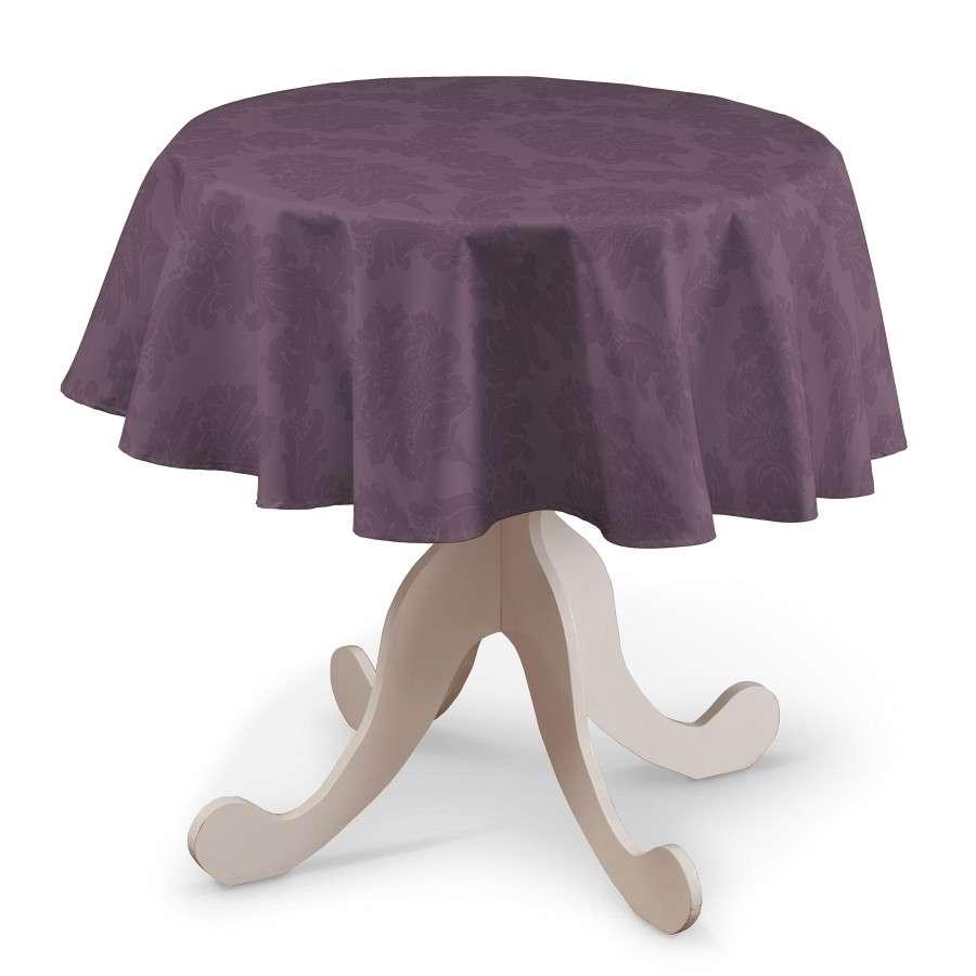 Runde Tischdecke Ø 135 cm von der Kollektion Damasco, Stoff: 613-75