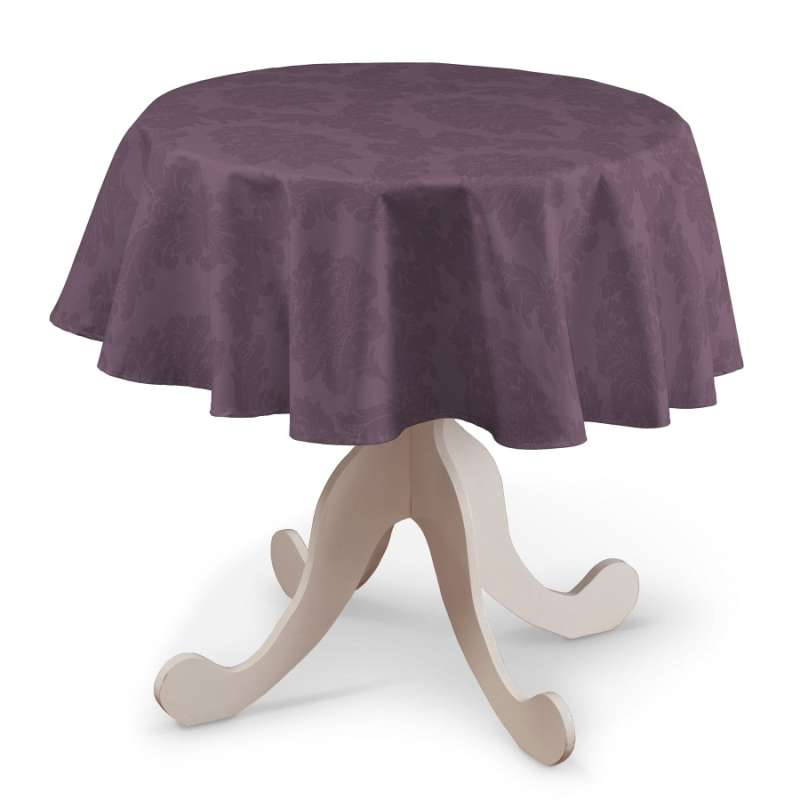 Round tablecloth in collection Damasco, fabric: 613-75