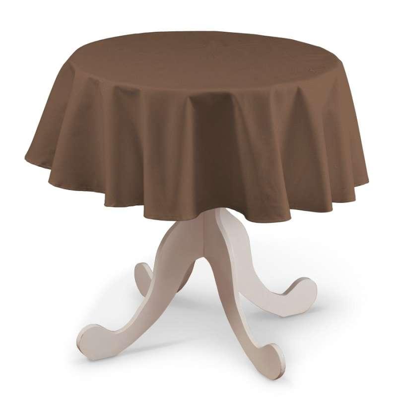Rund bordsduk i kollektionen Loneta, Tyg: 133-09