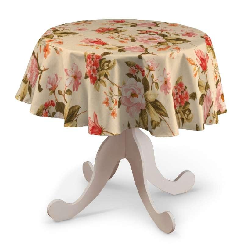 Rund bordsduk i kollektionen Londres, Tyg: 123-05