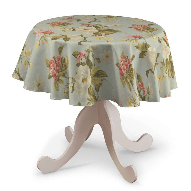 Round tablecloth in collection Londres, fabric: 123-65
