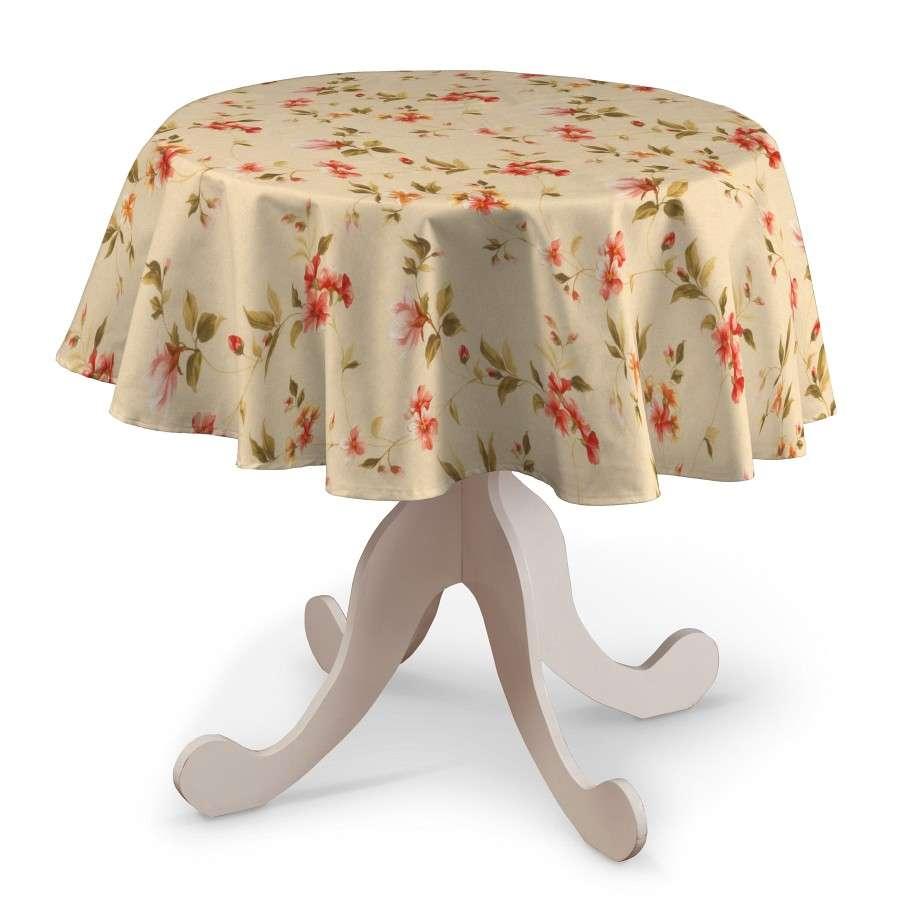 Runde Tischdecke Ø 135 cm von der Kollektion Londres, Stoff: 124-05