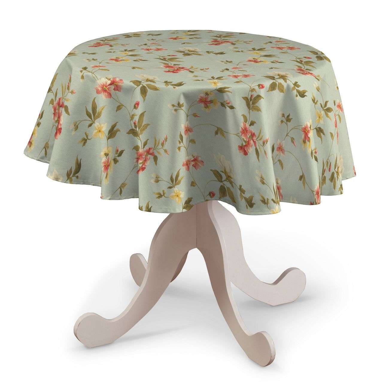 Round tablecloth Ø 135 cm (53 inch) in collection Londres, fabric: 124-65