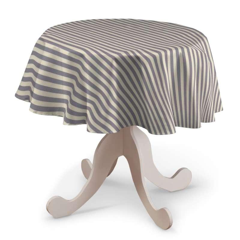 Runde Tischdecke von der Kollektion Quadro, Stoff: 136-02