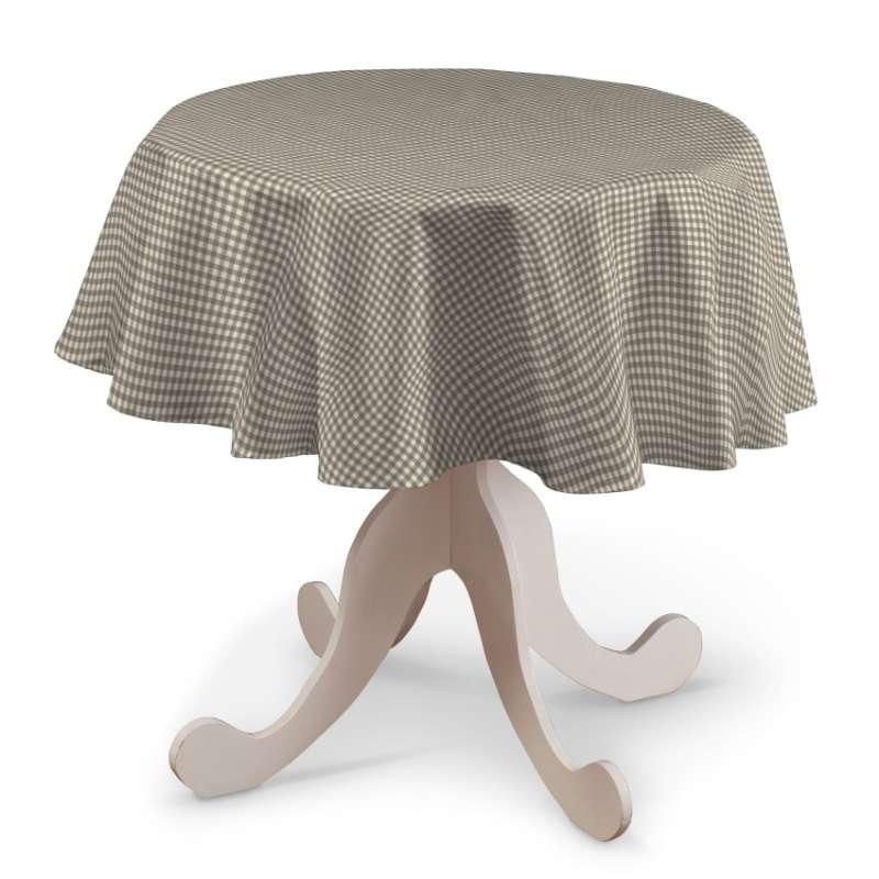 Runde Tischdecke von der Kollektion Quadro, Stoff: 136-05