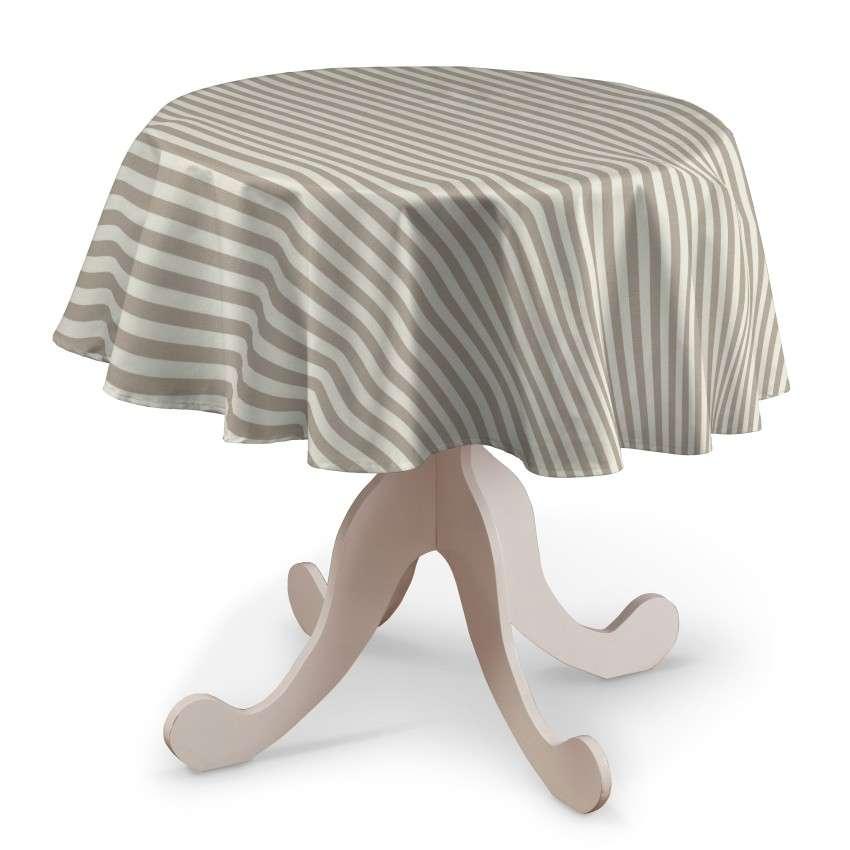 Runde Tischdecke von der Kollektion Quadro, Stoff: 136-07