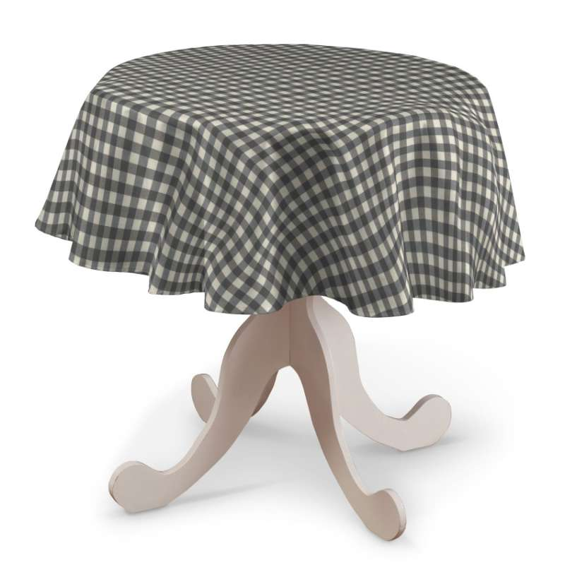 Round tablecloth in collection Quadro, fabric: 136-11