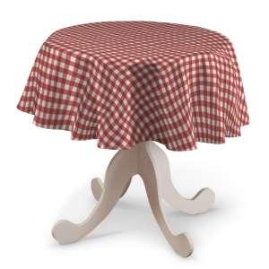 Runde Tischdecke Ø 135 cm von der Kollektion Quadro, Stoff: 136-16