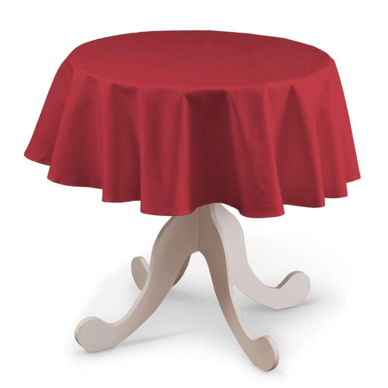 Runde Tischdecke von der Kollektion Quadro, Stoff: 136-19