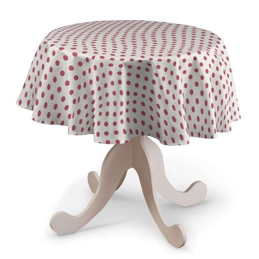 Rund bordsduk i kollektionen Ashley, Tyg: 137-70