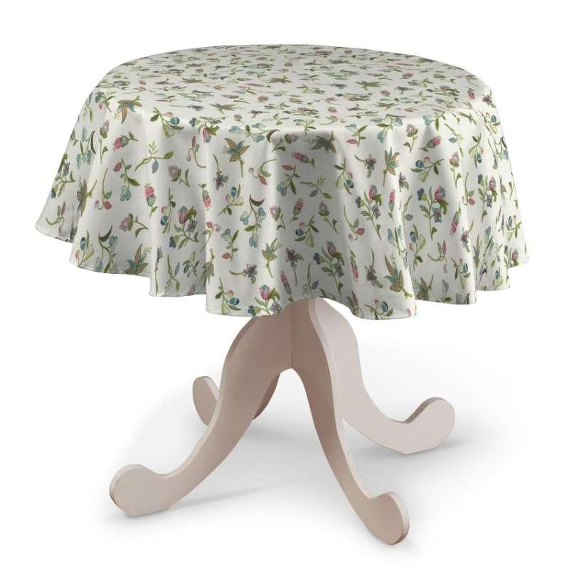 Rund bordsduk i kollektionen Londres, Tyg: 122-02