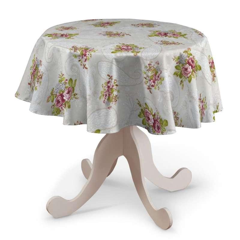 Rund bordsduk i kollektionen Flowers, Tyg: 311-15
