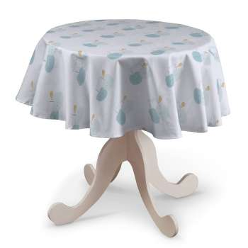 Runde Tischdecke Ø 135 cm von der Kollektion Apanona, Stoff: 151-02