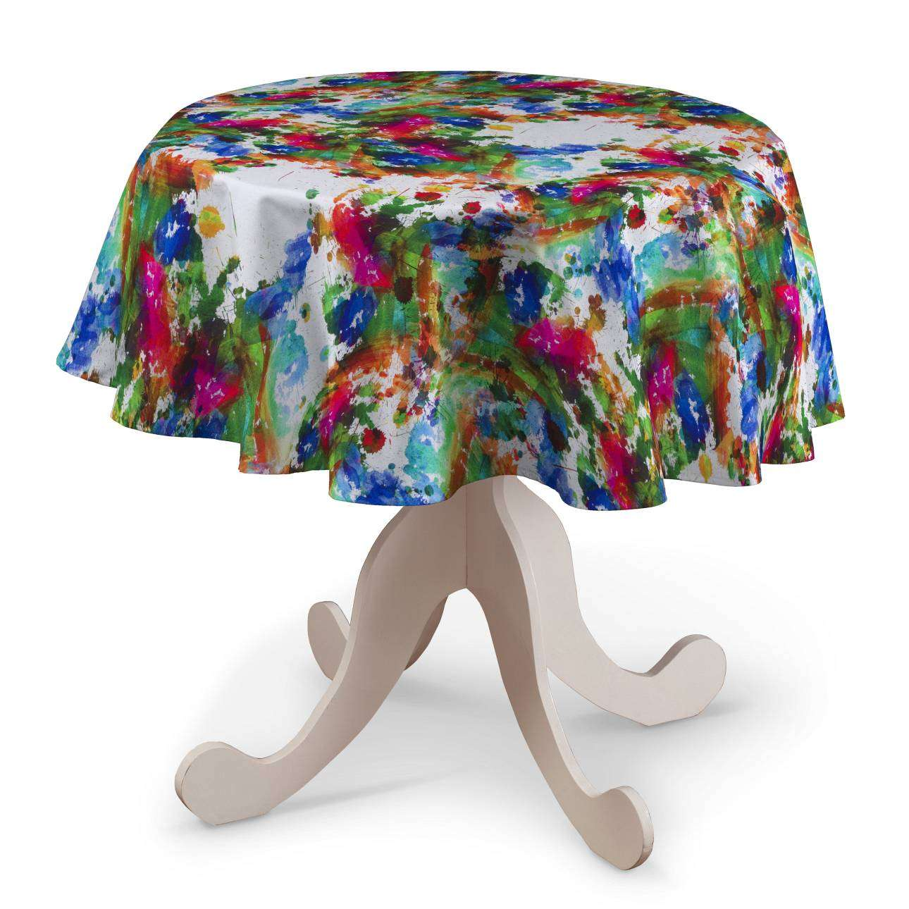 Round tablecloth Ø 135 cm (53 inch) in collection New Art, fabric: 140-23