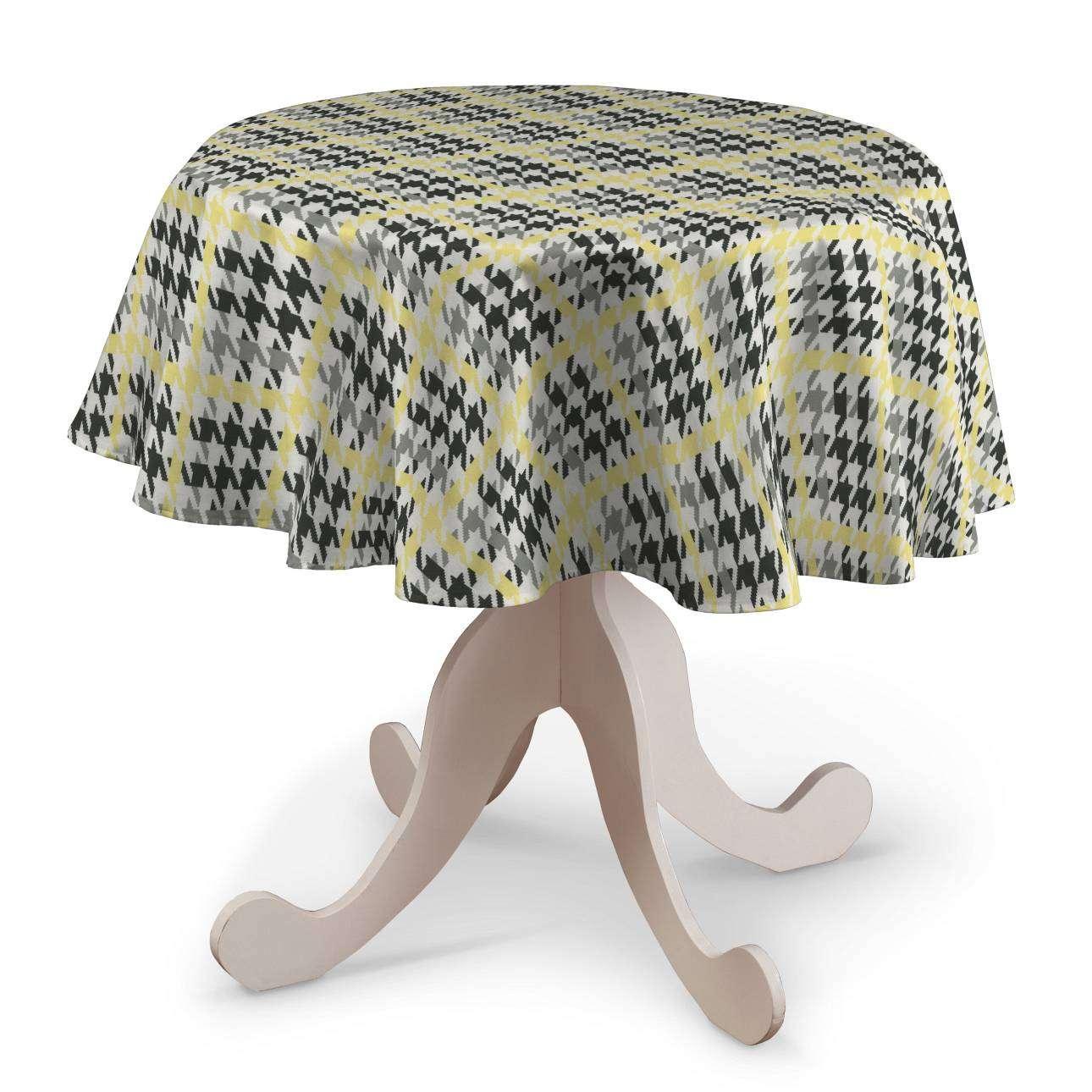 Runde Tischdecke Ø 135 cm von der Kollektion Brooklyn, Stoff: 137-79
